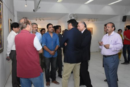 A Palette Knife Painting Exhibition At Ahmed Pervez Art Gallery, Arts Council Karachi (19)