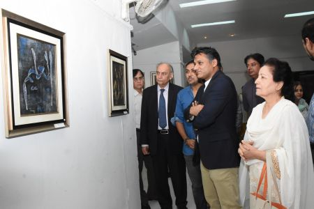 A Palette Knife Painting Exhibition At Ahmed Pervez Art Gallery, Arts Council Karachi (2)