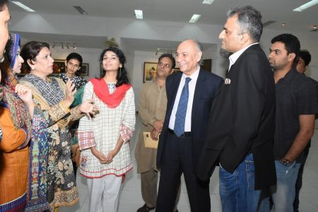 A Palette Knife Painting Exhibition At Ahmed Pervez Art Gallery, Arts Council Karachi (31)
