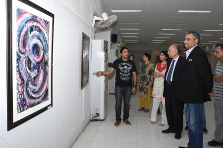 A Palette Knife Painting Exhibition At Ahmed Pervez Art Gallery, Arts Council Karachi (32)