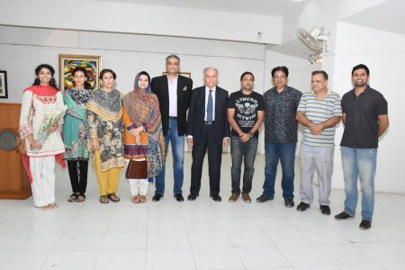 A Palette Knife Painting Exhibition At Ahmed Pervez Art Gallery, Arts Council Karachi (35)
