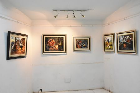 A Palette Knife Painting Exhibition At Ahmed Pervez Art Gallery, Arts Council Karachi (6)