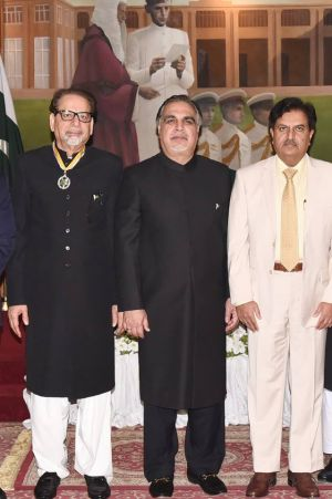 Ahmad Shah President Arts Council With Governor Sindh, Imran Ismail After Receiving Sitara-e-Imtiaz