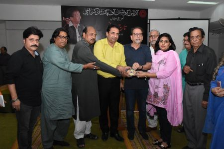 Condolence Gathering Of Prominent Singer Taaj Multani At Arts Council Of Pakistan Karachi (36)