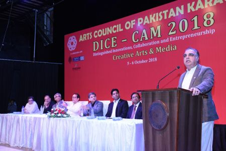 DICE CAM 2018; Gap Analysis Working Sessions And Inaugural Ceremony At Arts Council Karachi (5)