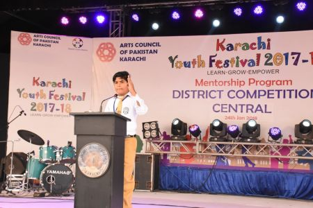 Declamation Competition, Distrtict Malir In Karachi Youth Festival 2017-18, Arts Council Karachi (1)
