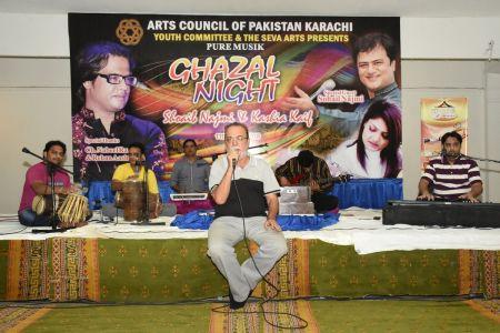 Ghazal Night With Shoaib Najmi And Kashia Kaif By Youth Committee Arts Council Of Pakistan Karachi (1)