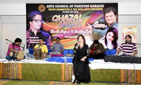 Ghazal Night With Shoaib Najmi And Kashia Kaif By Youth Committee Arts Council Of Pakistan Karachi (20)