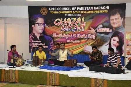 Ghazal Night With Shoaib Najmi And Kashia Kaif By Youth Committee Arts Council Of Pakistan Karachi (32)
