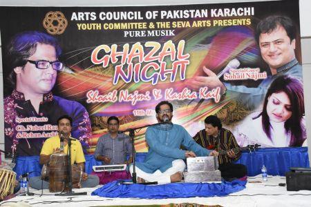 Ghazal Night With Shoaib Najmi And Kashia Kaif By Youth Committee Arts Council Of Pakistan Karachi (7)