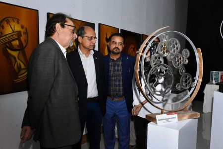 Inauguration Of ACIAC Thesis Exhibition 2020 At Arts Council Karachi (3)