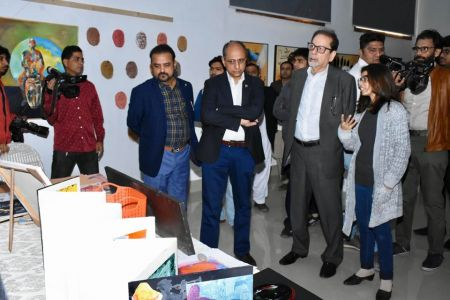 Inauguration Of ACIAC Thesis Exhibition 2020 At Arts Council Karachi (6)