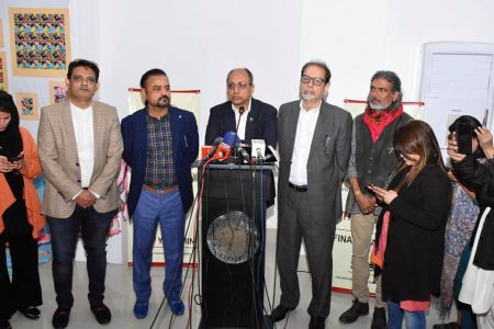 Inauguration Of ACIAC Thesis Exhibition 2020 At Arts Council Karachi (7)