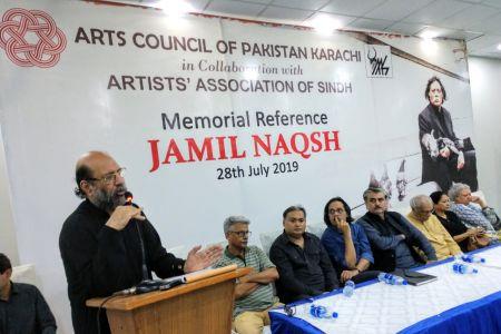Memorial Reference For Artist Jamil Naqsh At Arts Council Karachi (6)