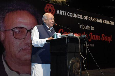 Mir Hasil Bizengo During The Tribute To Camrade Jam Saqi At Arts Council Karachi (1)