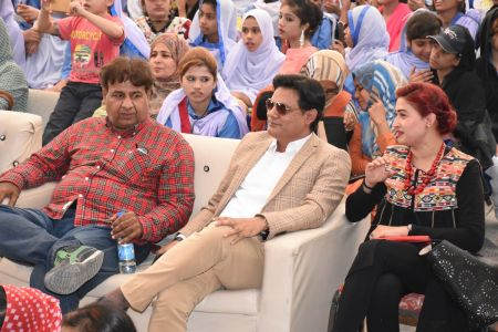 Mr. Kashif Grami & Mr. Salman Pirzada During Karachi Youth Festival 2017-18 (18)
