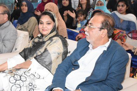 Mr. & Mrs. Asjad Bukhari During Karachi Youth Festival 2017-18 (2)