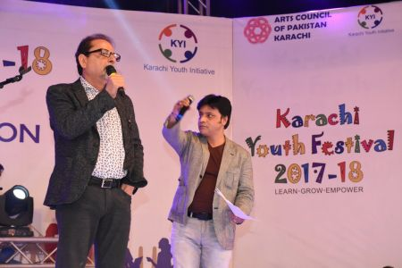 Muhammad Ahmed Shah During Karachi Youth Festival 2017-18 (4)