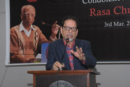 Muhammad Ahmed Shah Express His Point Of View In Condolence Reference Of Legend Rasa Chughtai (1)