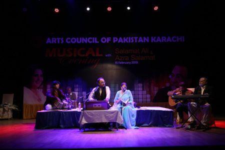 Musical Evening With Ustad Salamat Ali & Azra Salamat At Arts Council