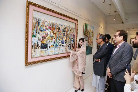 Painting Exhibition Of MS Zamar Shahid Khawaja Khail Fom Quetta At Arts Council Karachi (3)