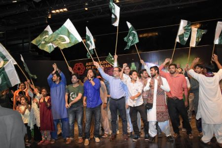 President Arts Council Ahmed Shah During 23rd March Celebrations At Arts Council Of Pakistan Karachi (42)
