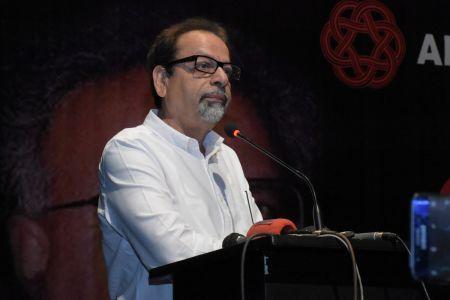 President Arts Council Mr Ahmed Shah During Tribute To Camrade Jam Saqi At Arts Council Karachi