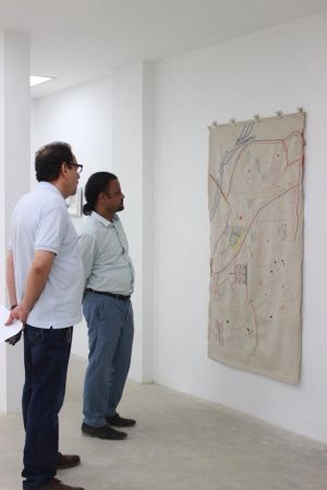 President Arts Council Ahmed Shah Visited Exhibitions At Chaukhandi, Canvas, Koel And Sanat Galleries Karachi (2)