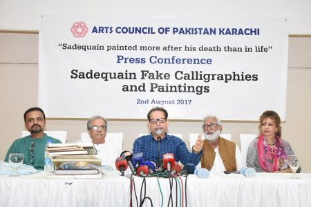 Press Conference About Sadiquain Fake Painting (1)