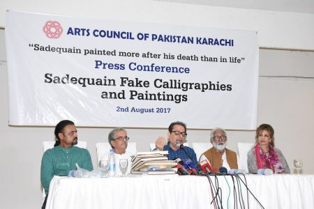 Press Conference About Sadiquain Fake Painting (4)