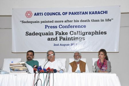 Press Conference About Sadiquain Fake Painting (6)