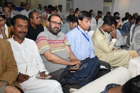 Press Conference About \'Save Shahid Sajjad\'s Art Work\' By Arts Council Of Pakistan Karachi (10)
