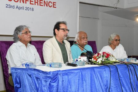 Press Conference About \'Save Shahid Sajjad\'s Art Work\' By Arts Council Of Pakistan Karachi (3)