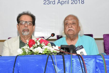 Press Conference About \'Save Shahid Sajjad\'s Art Work\' By Arts Council Of Pakistan Karachi (5)