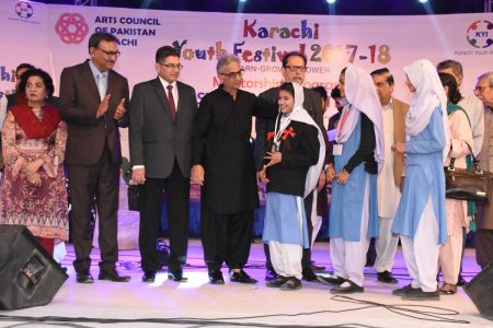 Prize Distribution  District West & South - Karachi Youth Festival ( (12)