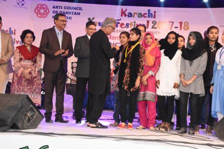 Prize Distribution  District West & South - Karachi Youth Festival ( (13)