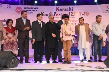 Prize Distribution  District West & South - Karachi Youth Festival ( (18)