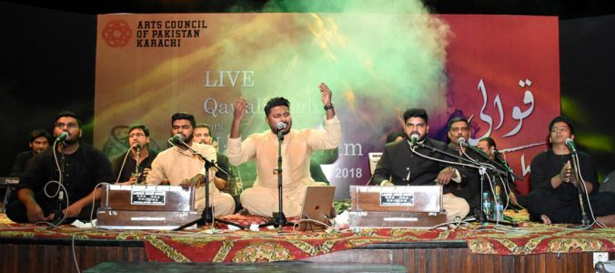 Qawwali With Hamza Abbas At AC Auditorium At Arts Council Of Pakistan Karachi (10)