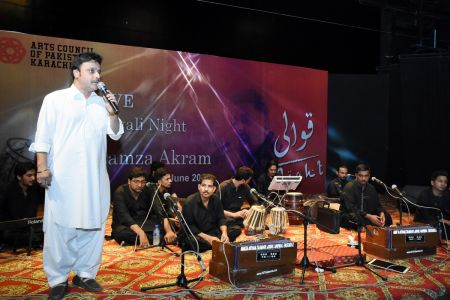 Qawwali With Hamza Abbas At AC Auditorium At Arts Council Of Pakistan Karachi (12)