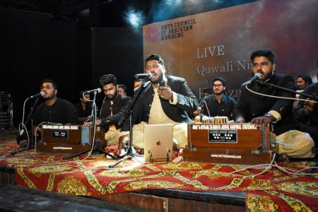 Qawwali With Hamza Abbas At AC Auditorium At Arts Council Of Pakistan Karachi (19)