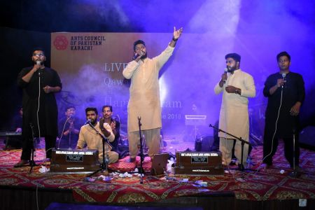 Qawwali With Hamza Abbas At AC Auditorium At Arts Council Of Pakistan Karachi (6)