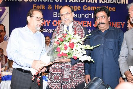 Shah Muhammad Shah\'s Book Launching, Arts Council Karachi (38)