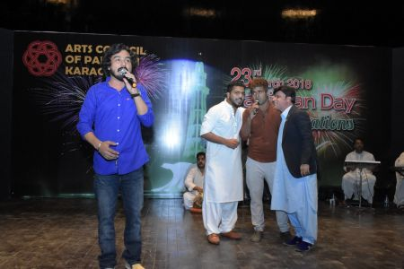 Singer Zubair During 23rd March Celebrations At Arts Council Of Pakistan Karachi (41)