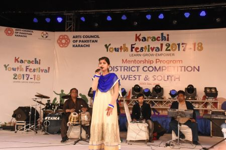 Singing Competitions Of District West & South Youth Festival 2017-18 Arts Council Karachi (1)