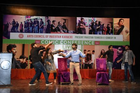 Tehreek E Comedy Performance At Arts Council Karachi (12)