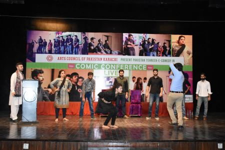 Tehreek E Comedy Performance At Arts Council Karachi (4)