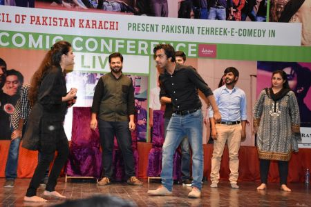 Tehreek E Comedy Performance At Arts Council Karachi (5)