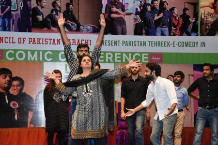Tehreek E Comedy Performance At Arts Council Karachi (7)