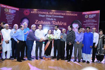 Tribute To Artist Zaheen Tahira At Arts Council Karachi(1)