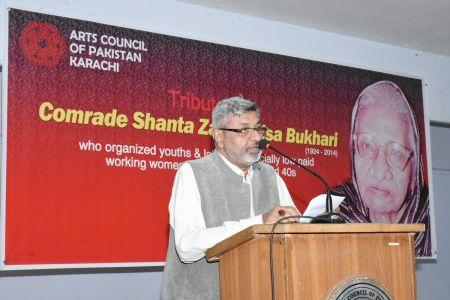Tribute To Comrade Shanta Zaibunisa Bukhari At Arts Council Karachi (1)